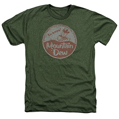 Trevco Mountain Dew Vintage Cap Unisex Adult Heather T Shirt For Men and Women