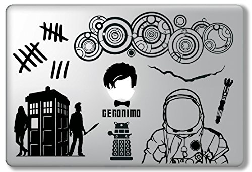 11th Doctor Decal Set Doctor Who Dr. Who - Apple Macbook Laptop Vinyl Sticker Decal