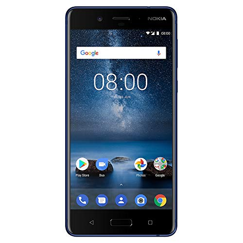 Nokia 8 - Android One (Upgrade to Pie) - 64 GB - Unlocked Smartphone (AT&T/T-Mobile/MetroPCS/Cricket/H2O) - 5.3