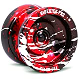Sidekick Yoyo Pro Black Red Silver Splashes Professional Aluminum UNresponsive YoYo