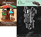 Cybrtrayd Train Engine Kids Chocolate Candy Mold with Chocolatier's Guide Instructions Book Manual