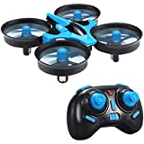 Mini UFO Quadcopter Drone ,Kingtoys LED Lights Drones Headless Mode RTF Mode 2 One Key Return Remote Control Nano Quadcopter