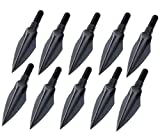 125 Grain Broadhead Hunting or Small Game Broad Head, Vopa 3 Fixed Blade Arrow Head Tip Points for Compound Bow Crossbow Recurve Shaft, Pack of 10