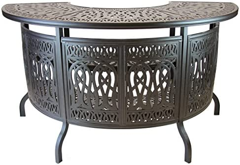 Heritage Outdoor Living Elisabeth Cast Aluminum Party Bar Table