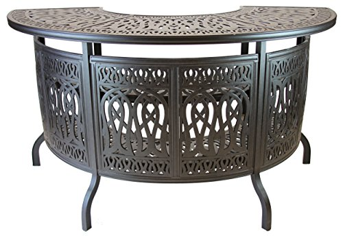 Heritage Outdoor Living Elisabeth Cast Aluminum Party Bar Table - Antique Bronze