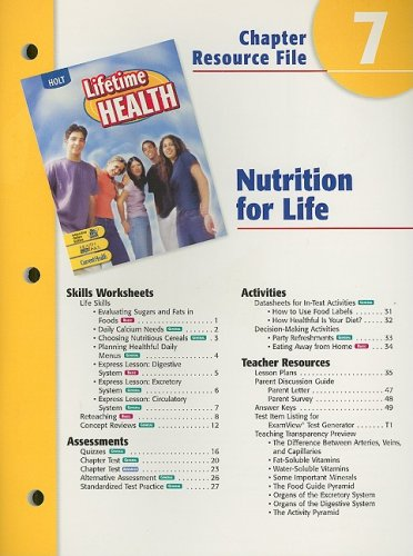 Holt lifetime health chapter 7 resource file nutrition for life holt lifetime health chapter 7 resource file nutrition for life holt rinehart winston 9780030651984 amazon books fandeluxe Gallery