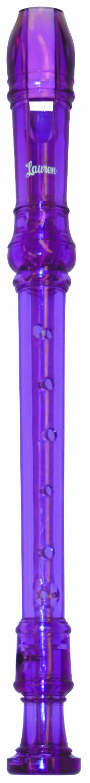 Lauren LRECPU 3-Piece Soprano Recorder, Purple