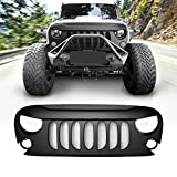 Extreme Off-Road Matte Black Demon Grille Grid Grill 2007-2018 2&4 Door Jeep Wrangler JK JKU Rubicon Sahara Sports