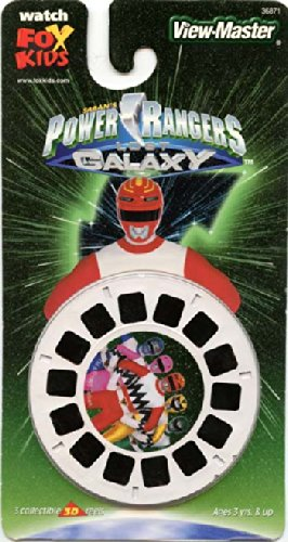 Power Galaxy Rangers (Power Rangers - Lost Galaxy - Classic ViewMaster - 3 Reel on a Card - OPEN)
