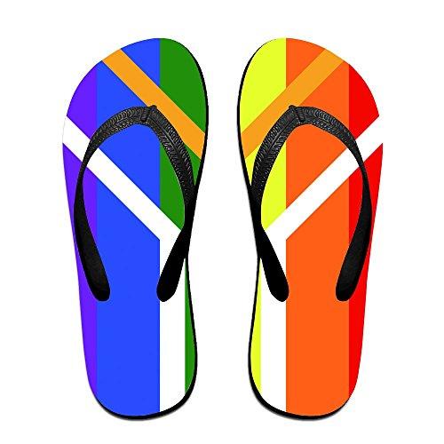 Unisex Summer LGBT South Africa Gay Pride Flip Flop Shower Sandal by Enuain