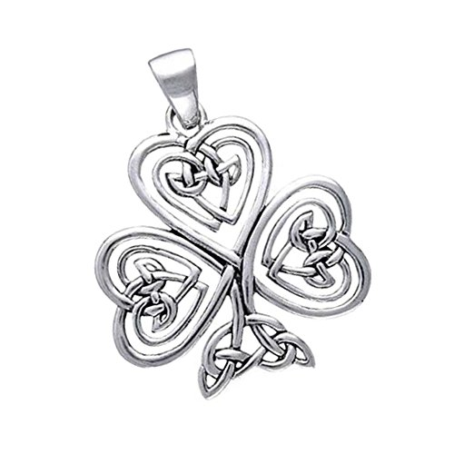 Lucky Shamrock Pendant - Sterling Silver Small Filigree Celtic Lucky Shamrock Pendant