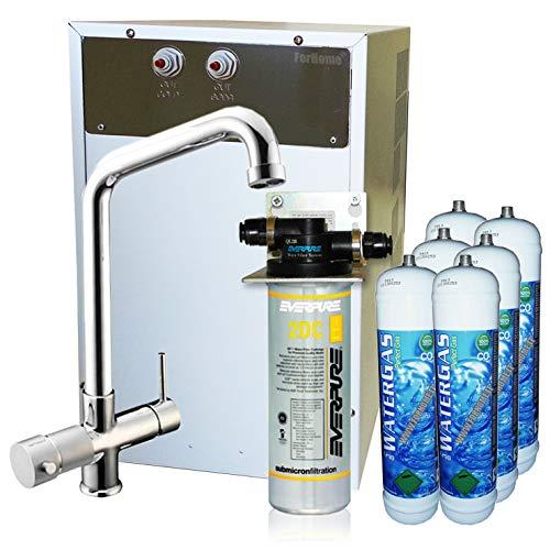 Purificador agua enfriador carbonatador con Everpure de bajo fregadero-Agua gasata refrigerata amb. Rub. 5VÃas 3,6kg: Amazon.es: Bricolaje y herramientas