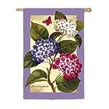 "Hydrangea Trio Garden Flag Size: 43\"" H x 29\"" W"