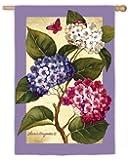 "Hydrangea Trio Garden Flag Size: 43"" H x 29"" W"