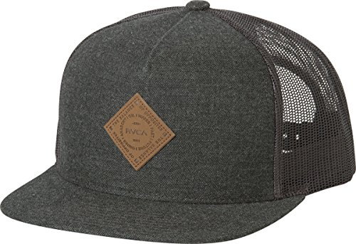rvca-mens-finley-trucker-hat-charcoal-one-size