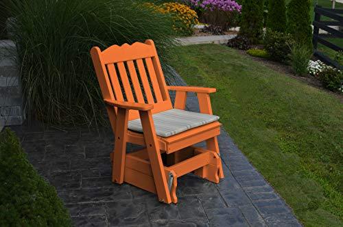 (Poly 2 Ft Single Royal English Glider Chair - Orange )