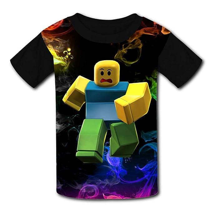 Woiiser Camisetas de niños, Ro-Blox Kid/Youth T-Shirts 3D Casual Short Sleeve O-Neck Tees