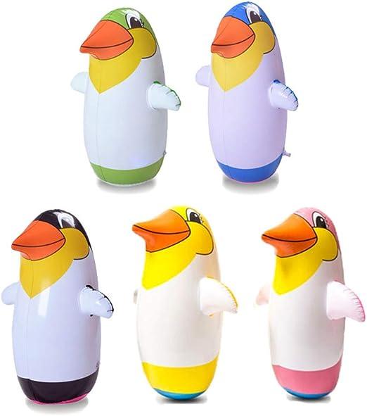 Ailyoo Accesorios de Mesa para niños, 5pcs Stehauf-Penguin Pingüino Inflable de Juguete Pingüino Pingüino de Juguete Tumbler Toy Party Accesorios para niños Juego de Interior: Amazon.es: Hogar