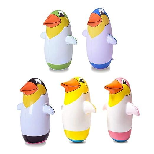 Ailyoo Accesorios de Mesa para niños, 5pcs Stehauf-Penguin Pingüino Inflable de Juguete Pingüino Pingüino de Juguete Tumbler Toy Party Accesorios para ...