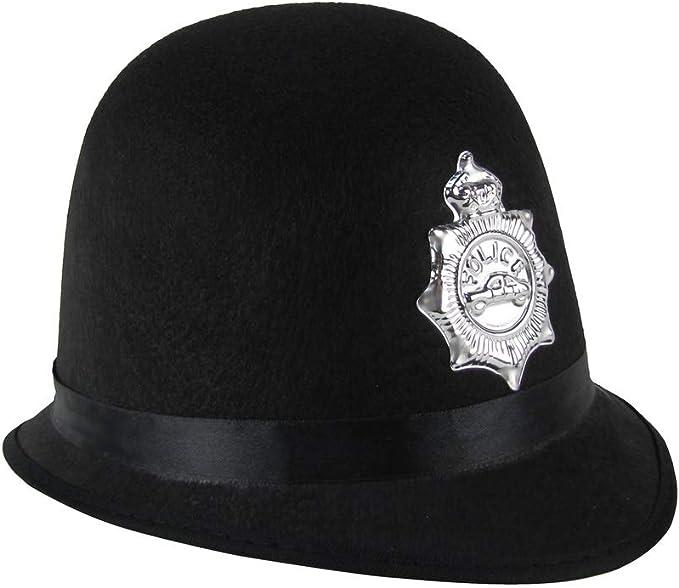 TG,LLC, Gorra Negra de Oficial de policía británico Bobby ...