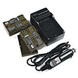 DSTE 2x BP-511 Battery + DC19 Travel and Car Charger Adapter for Canon EOS 300D 50D 5D D30 D60 Digital Rebel...