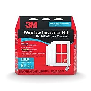3M 2141BW-6 Indoor Window Insulator Kit, 5-Window