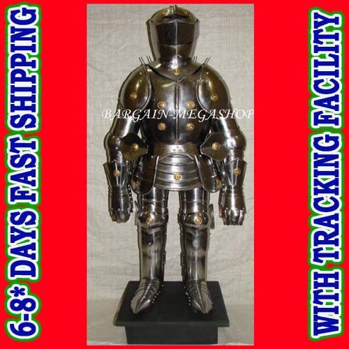 QUICK FALCON TRADER Mini Medieval Suit of Knights Armor for Home Office Decoration 3Feet Height.