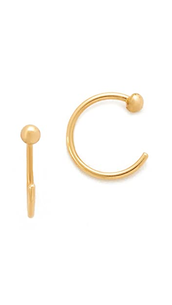 8593d1858 Amazon.com: Zoe Chicco Women's Reversible Earrings, Gold, One Size ...