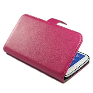 Wall- Wallet Litchi Stand Leather Flip with Credit Card Holder Case Cover for Samsung Galaxy Mega 6.3 I9200 Rose