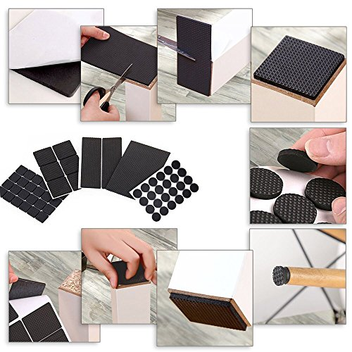 FireBee Rubber Furniture Pads Non Slip Heavy Duty Adhesive Furniture Leg  Pads To Protect Hardwood Floors