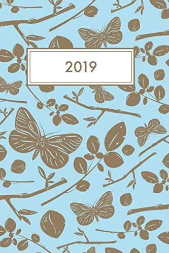 2019: Diary and planner for 2019, featuring calendars for 2019 and 2020, monthly planners for 2019, weekly overview planners and a page for each day. Includes additional pages for notes and contacts.