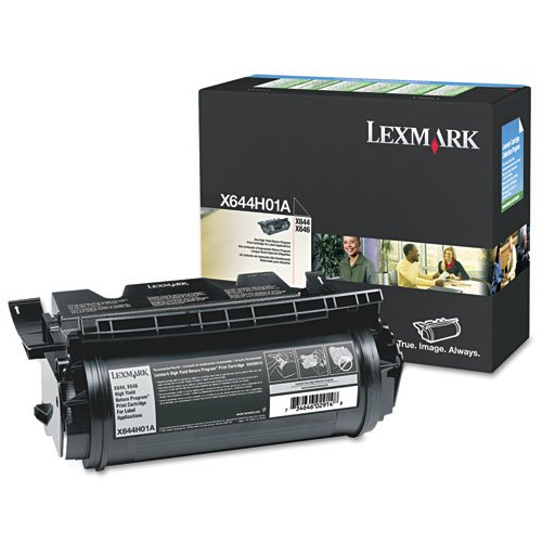 Label Applications 21000 Yield - Lexmark High Yield Return Program Toner Cartridge for Label Applications, 21000 Yield (X644H01A)