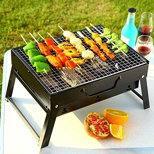 HANTERE Outdoor Portable BBQ Grills Burner Oven for 3-5 Person Garden Charcoal Barbeque Patio Party Cooking Foldable Picnic