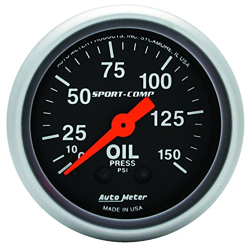 Auto Meter 3323 Sport-Comp Mechanical Oil Pressure Gauge