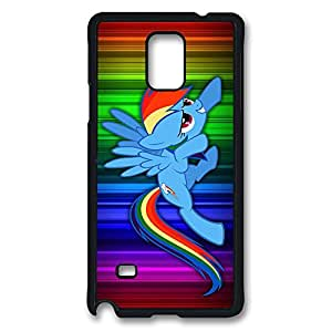 Samsung Galaxy Note 4 Case, Note 4 Case - Highly Protective Black Hard Back Case for Galaxy Note 4 Case Rainbow Dash My Little Pony Friendship Is Magic Anti-Scratch Hard Case for Samsung Galaxy Note 4