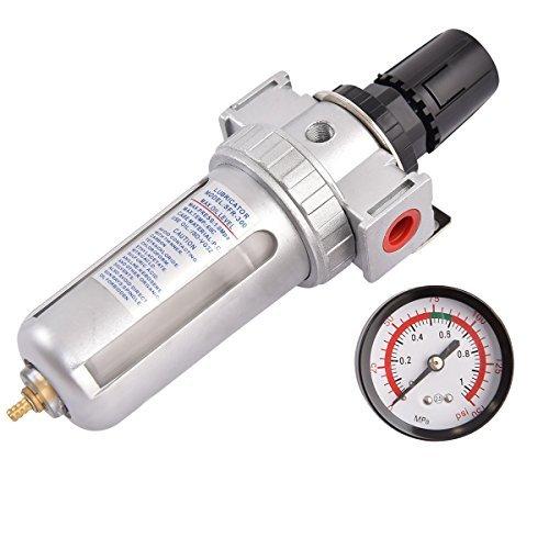 Goplus SFR300 Air Pressure Regulator Filter Water Separator w/ Pressure Gauge