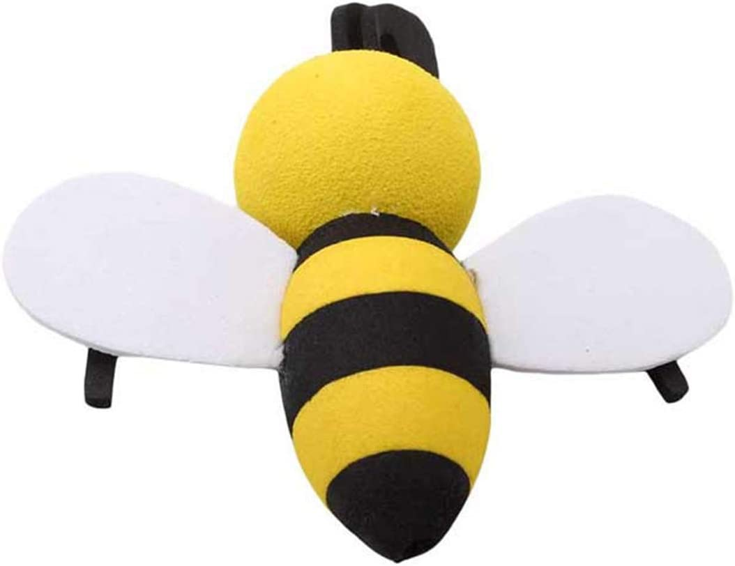 Idiytip Cut Bee Queen Car Antenna Toppers Smiley Honey Animal Shape Bumble Aerial Balls Antenna Topper Auto Exterior Vehicle Roof Decor #2