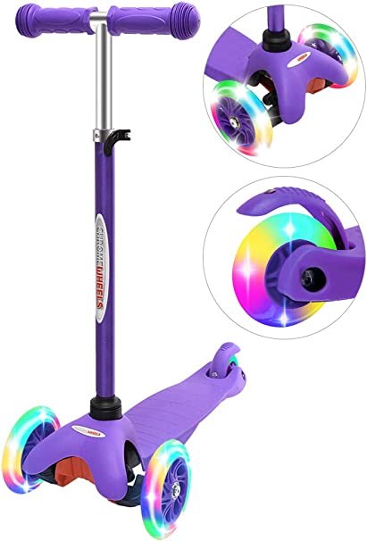 Kids Scooter 3 Wheels Child Toddlers Kick Scooter Glider Adjustable Height Ride