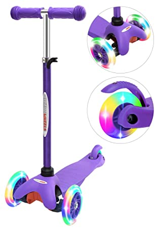 Amazon.com: ChromeWheels Scooter para niños, Deluxe 3 ruedas ...