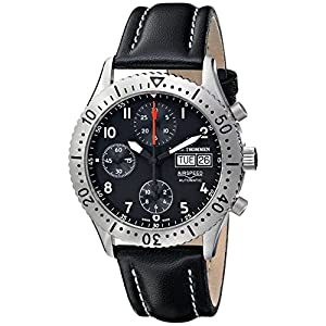 Revue Thommen Men's 16007-6537 Airspeed Classic Automatic Black Dial Watch