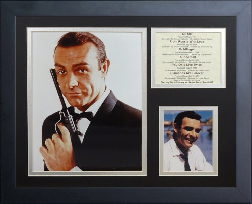 Legends Never Die ''James Bond Sean Connery'' Framed Photo Collage, 11 x 14-Inch by Legends Never Die