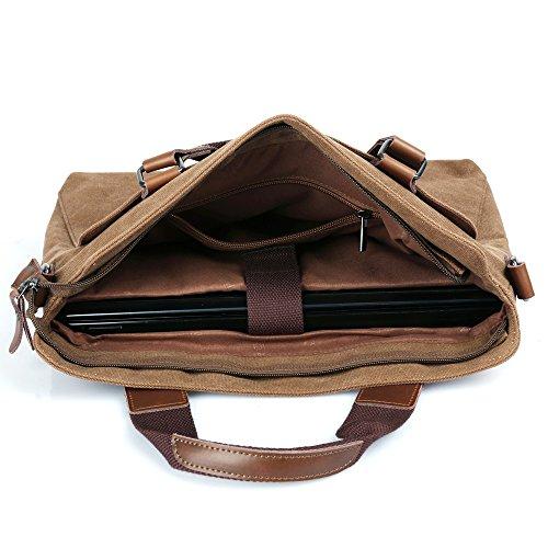 USLion - Bolso al hombro de Lona para hombre marrón marrón