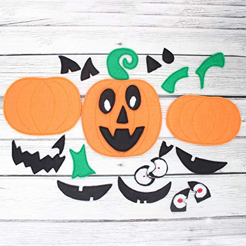 Build a Jack O'Lantern Pumpkin Halloween Game For Kids, Toddler Montessori Educational Learning