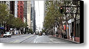 Market Street in San Francisco . 40D3156 Canvas Print / Canvas Art - Artist Wingsdomain Art and P...