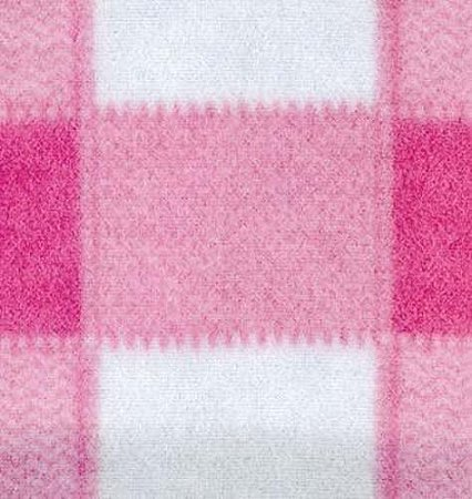 Plaid Pink Boxes Check Checkers Fleece Fabric Print by the Yard o1400-2b