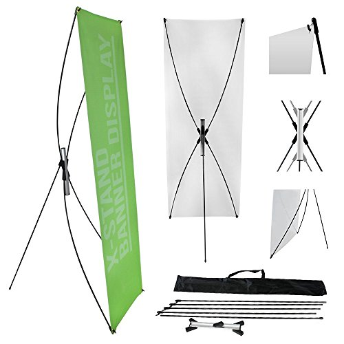 """wall26 23""""X63"""" Adjustable Tripod X Banner Stand with a Trave"""