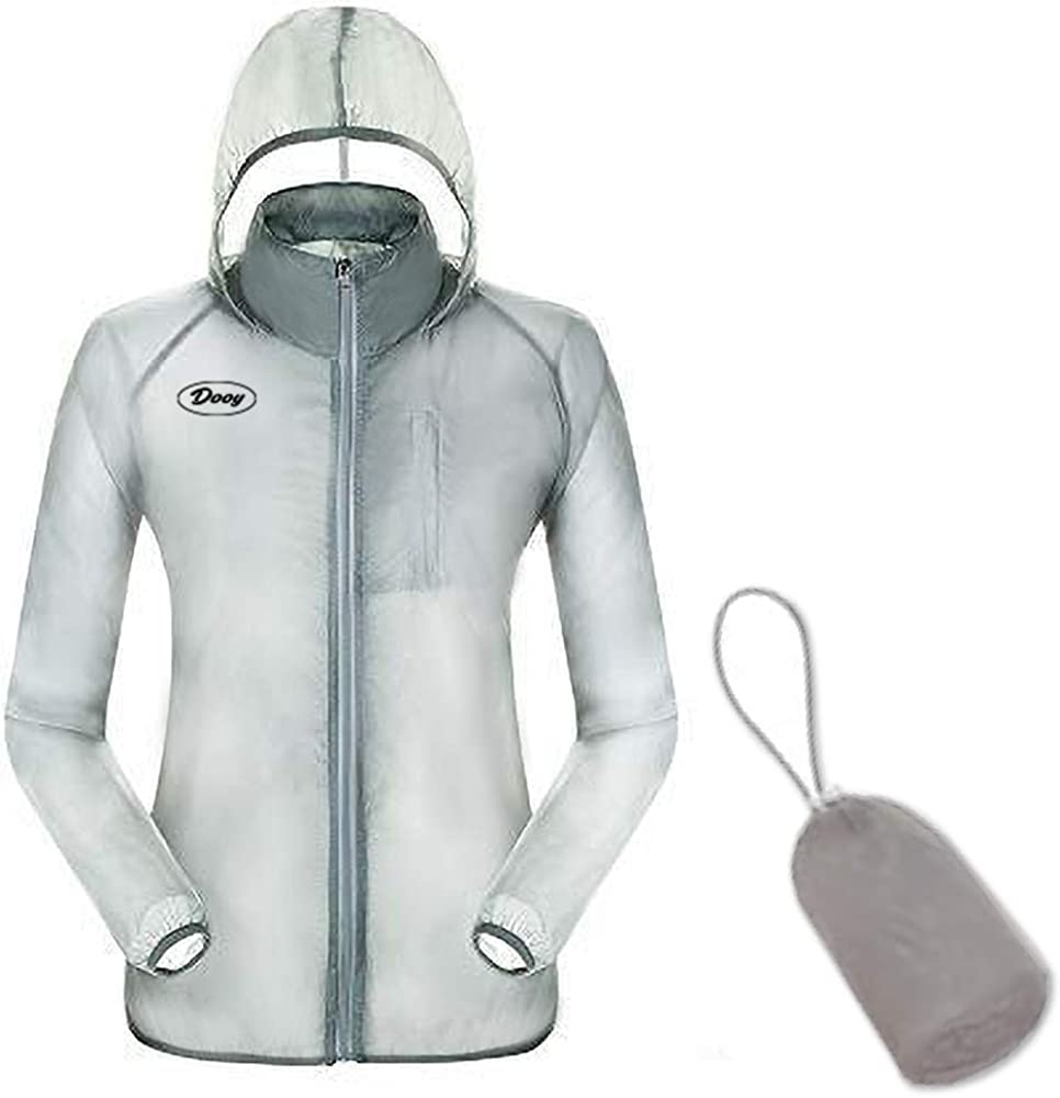 con capucha ultraligera y plegable cortavientos para bicicleta Dooy resistente al viento protecci/ón solar protecci/ón UV Chaqueta de ciclismo para correr