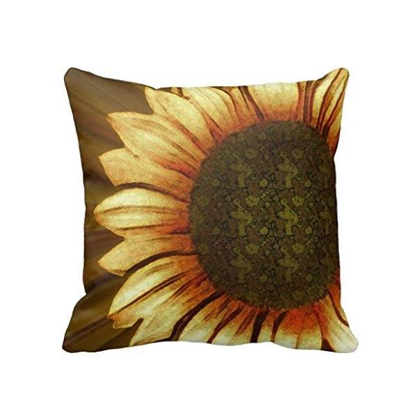 Gowgjyrg My Sun Sunflower Print Pillow Case -