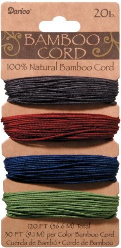 - Bamboo Cord 20# 120 Feet/Pkg-Jewel
