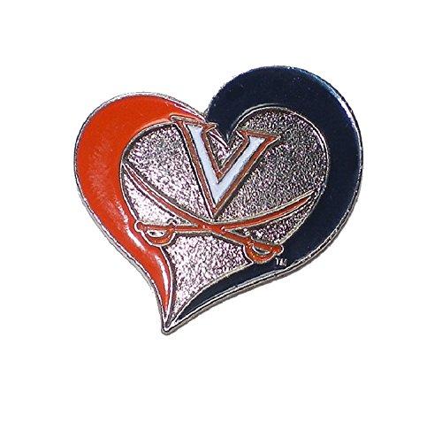 (Virginia Cavaliers Lapel Pin Heart Design NCAA Licensed)